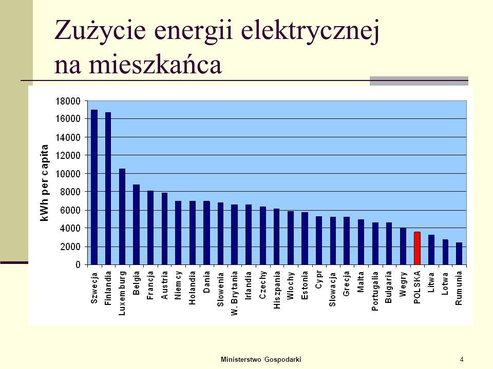 Zużycie energii elektrycznej na mieszkańca