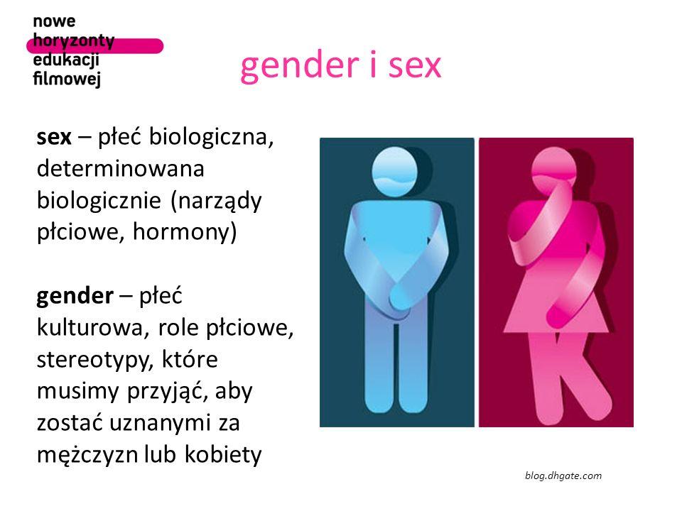 gender i sex sex – płeć biologiczna, determinowana biologicznie (narządy płciowe, hormony)