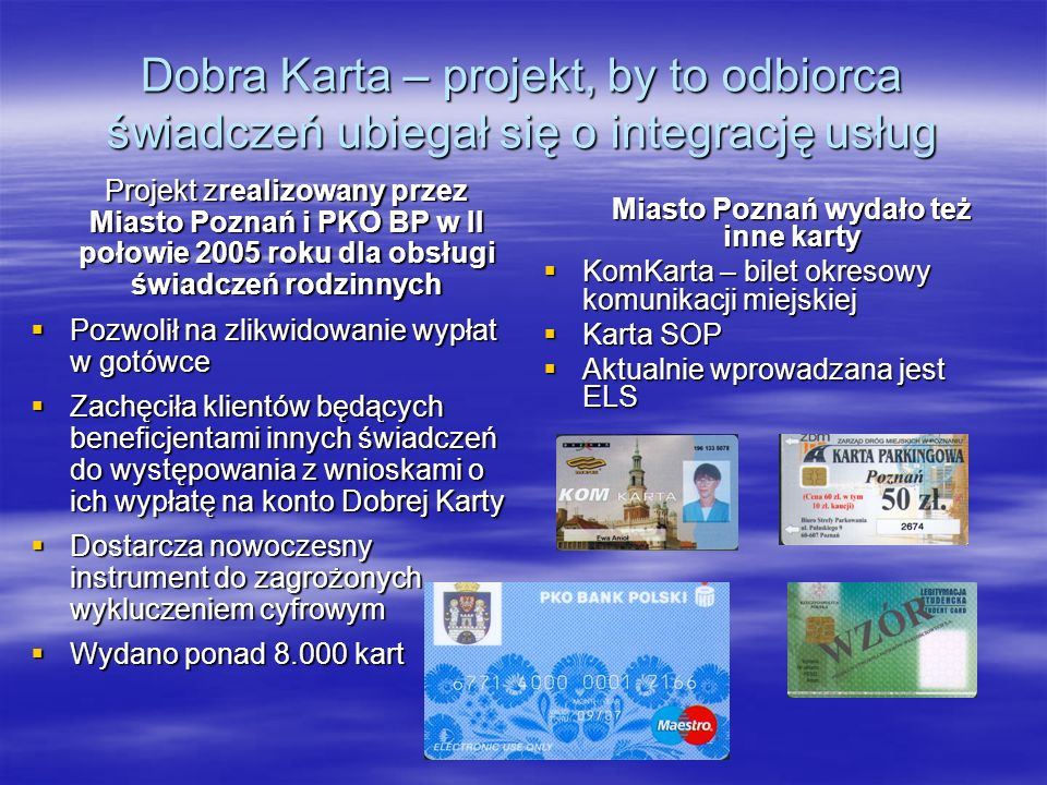 Miasto Poznań wydało też inne karty