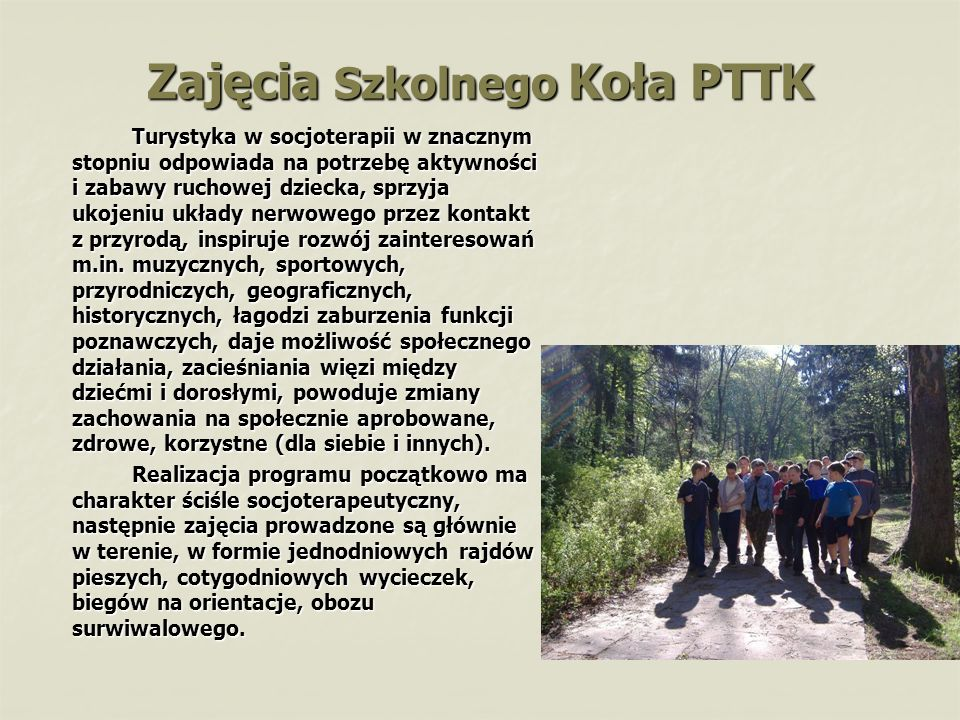 Zajęcia Szkolnego Koła PTTK