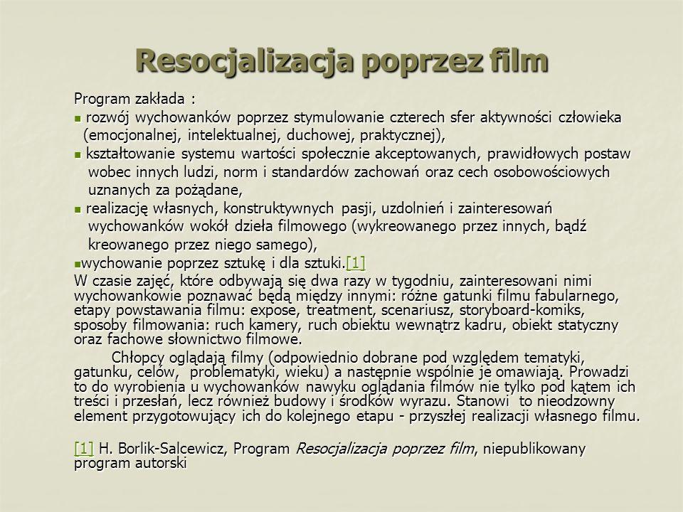 Resocjalizacja poprzez film