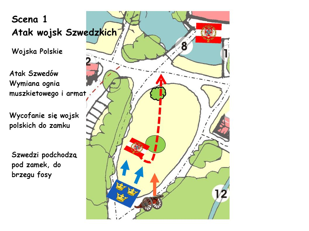Scena 1 Atak wojsk Szwedzkich Wojska Polskie Atak Szwedów