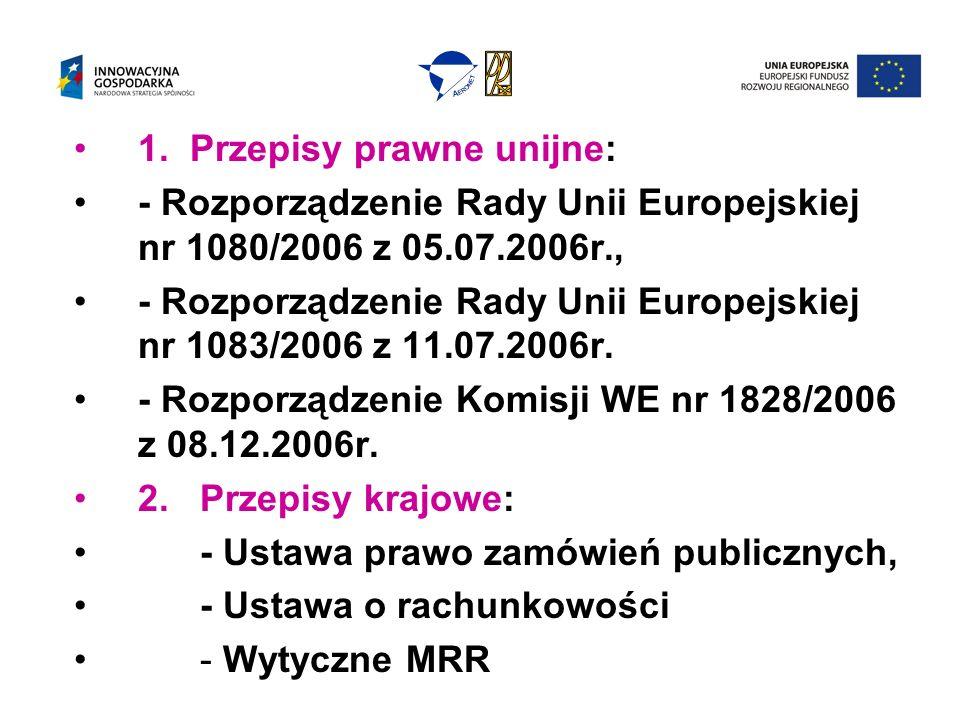1. Przepisy prawne unijne: