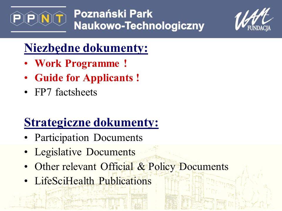Strategiczne dokumenty: