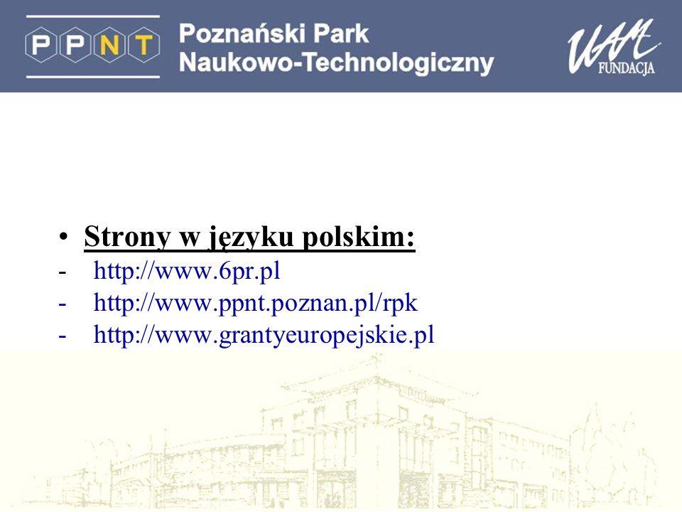 Strony w języku polskim:
