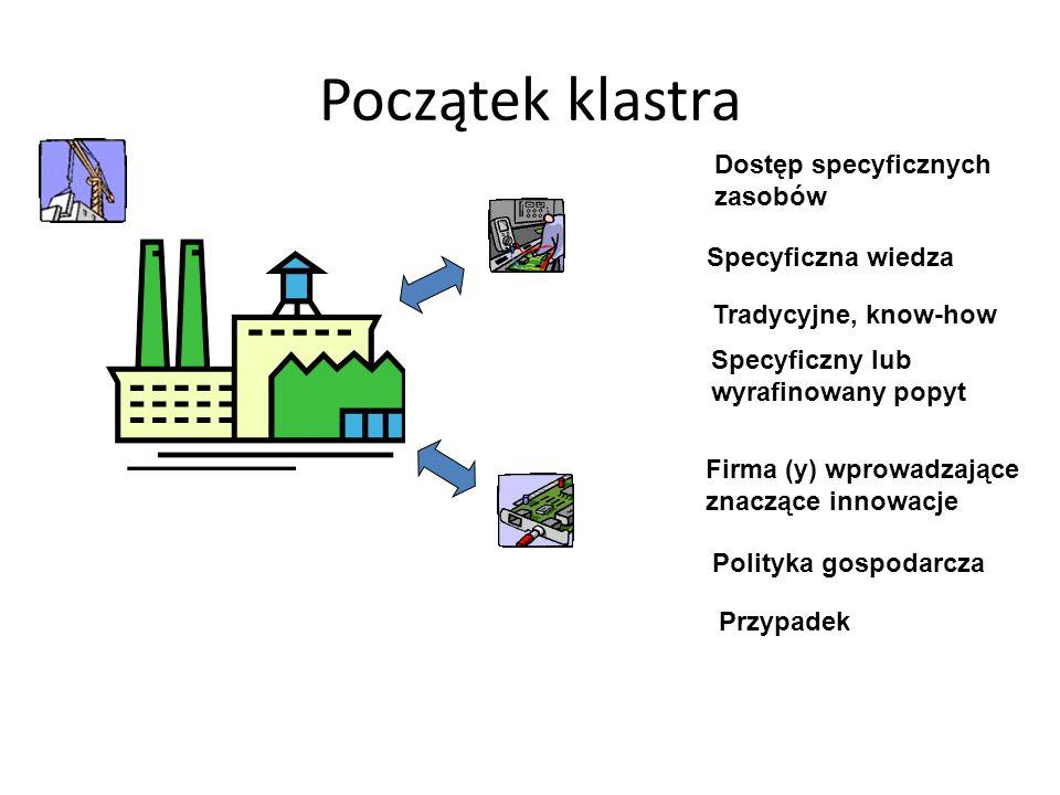 Początek klastra Dostęp specyficznych zasobów Specyficzna wiedza