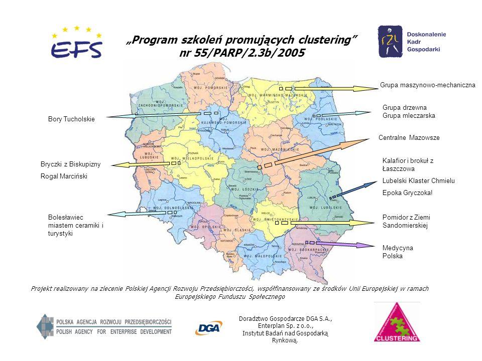 """Program szkoleń promujących clustering nr 55/PARP/2.3b/2005"