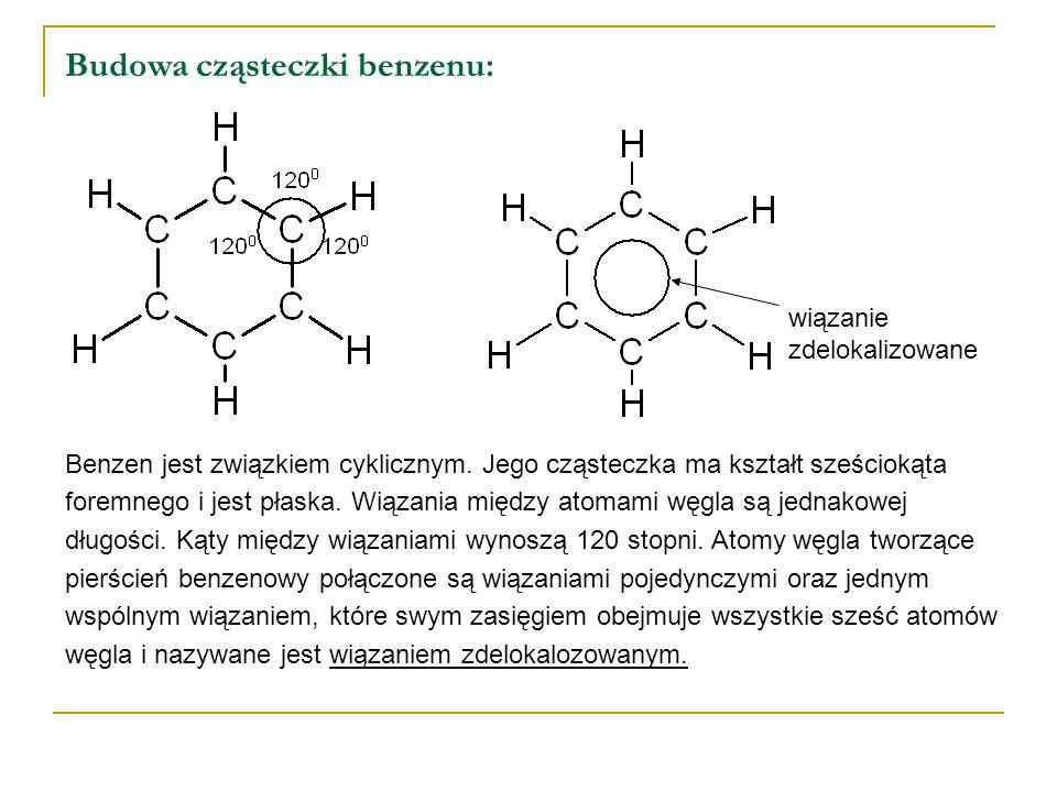 Budowa cząsteczki benzenu: