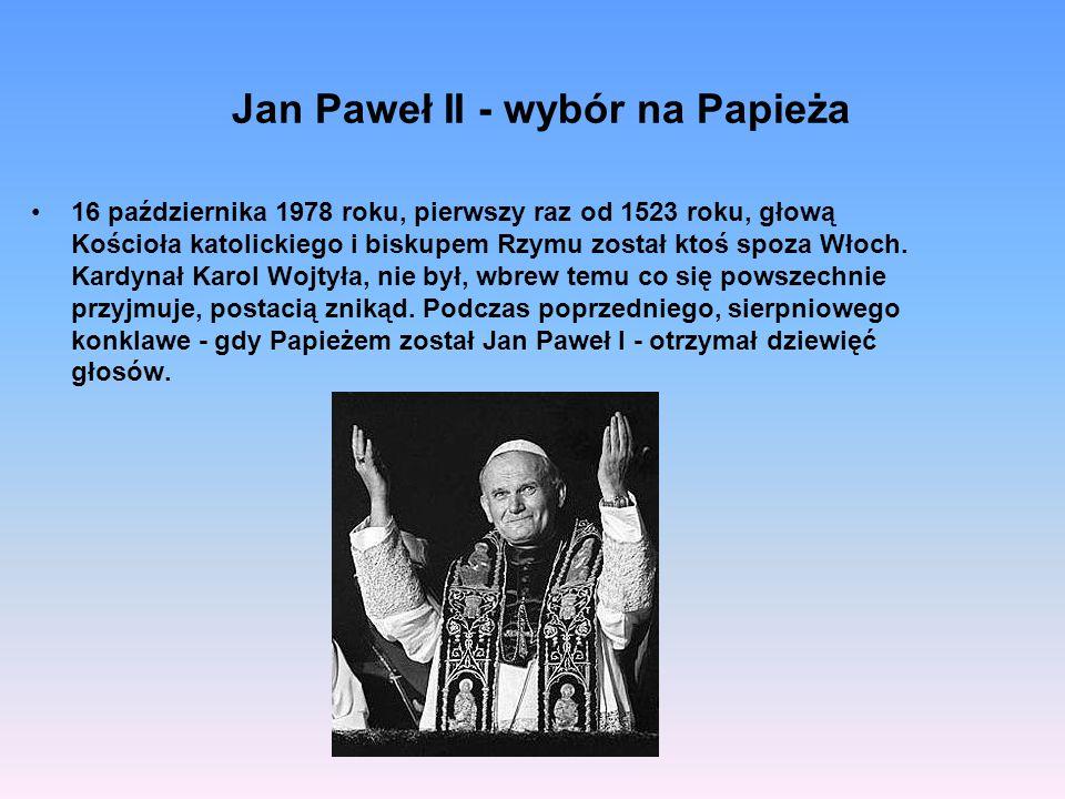 Jan Paweł II - wybór na Papieża