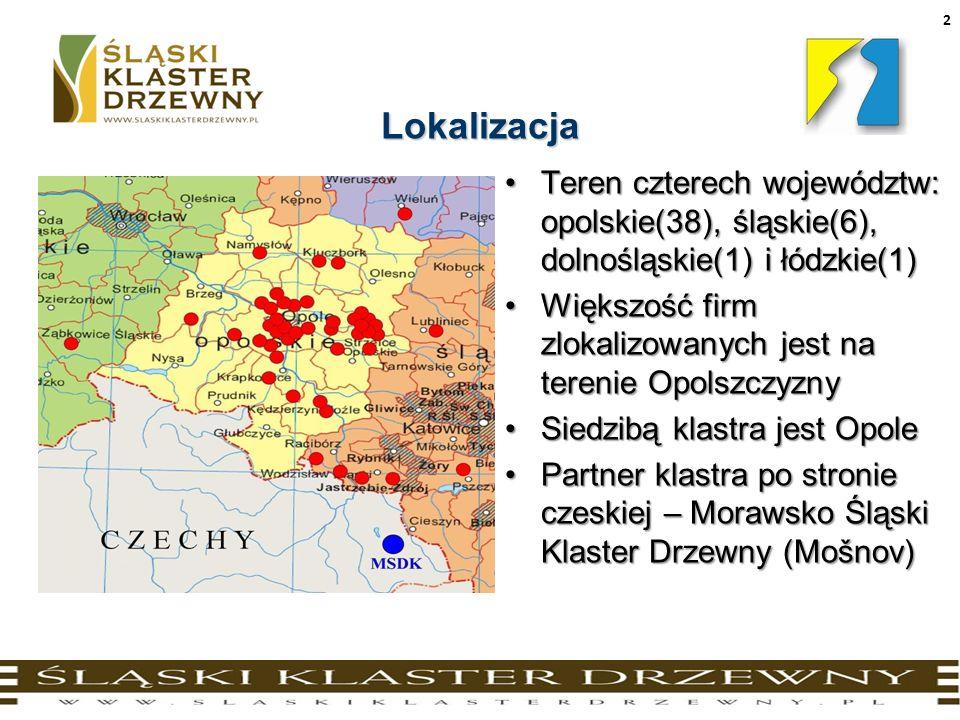 Lokalizacja Teren czterech województw: opolskie(38), śląskie(6), dolnośląskie(1) i łódzkie(1)