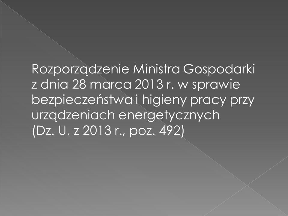 Rozporządzenie Ministra Gospodarki z dnia 28 marca 2013 r