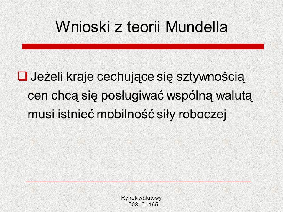 Wnioski z teorii Mundella