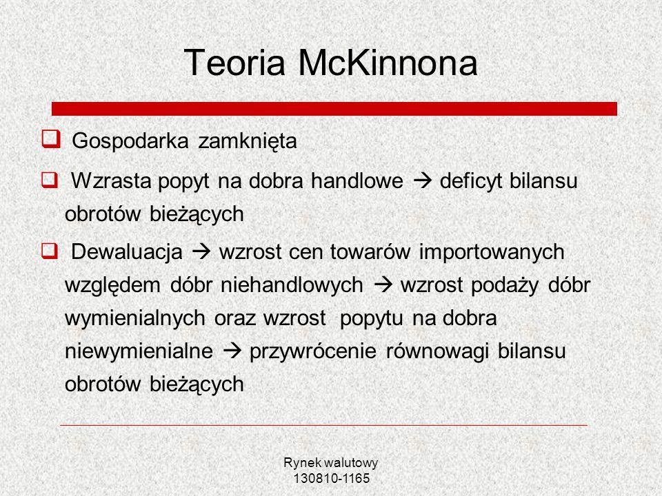 Teoria McKinnona Gospodarka zamknięta