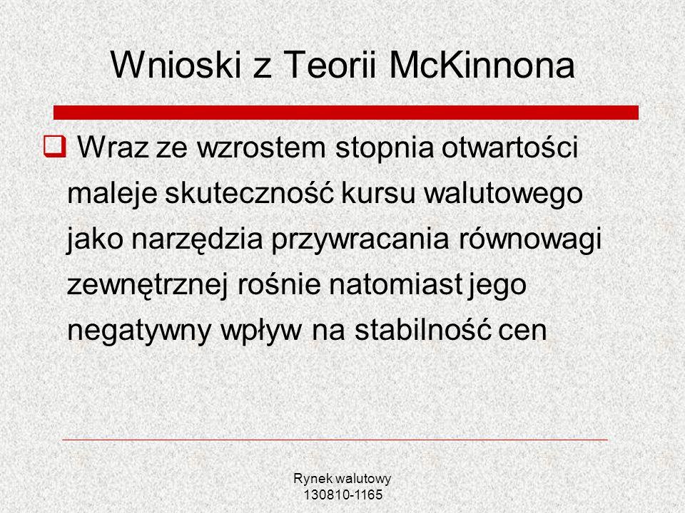 Wnioski z Teorii McKinnona