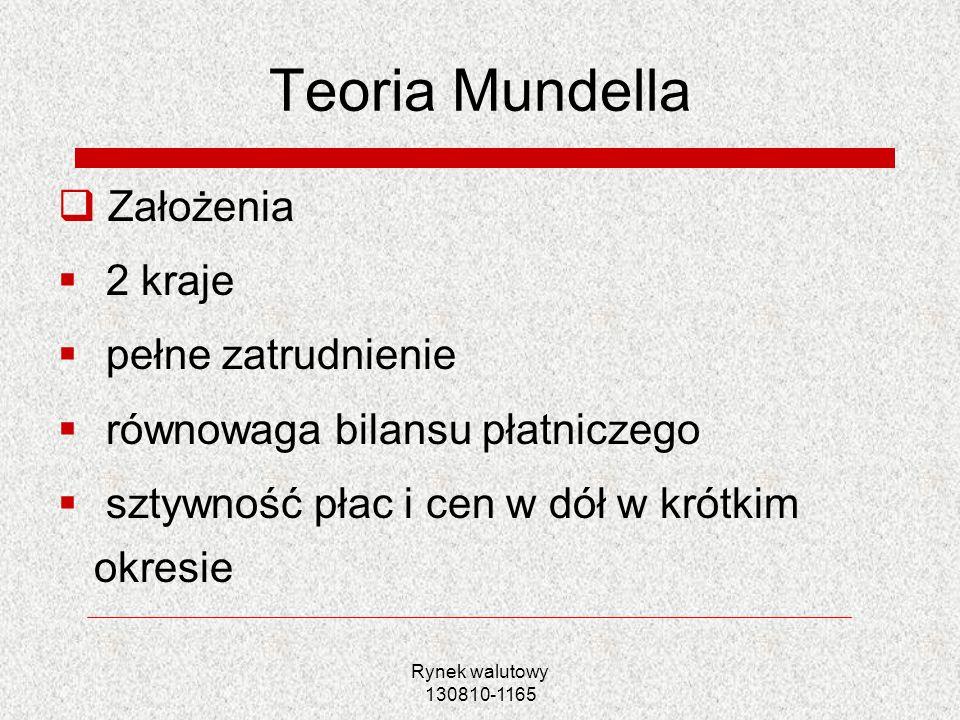 Teoria Mundella Założenia 2 kraje pełne zatrudnienie