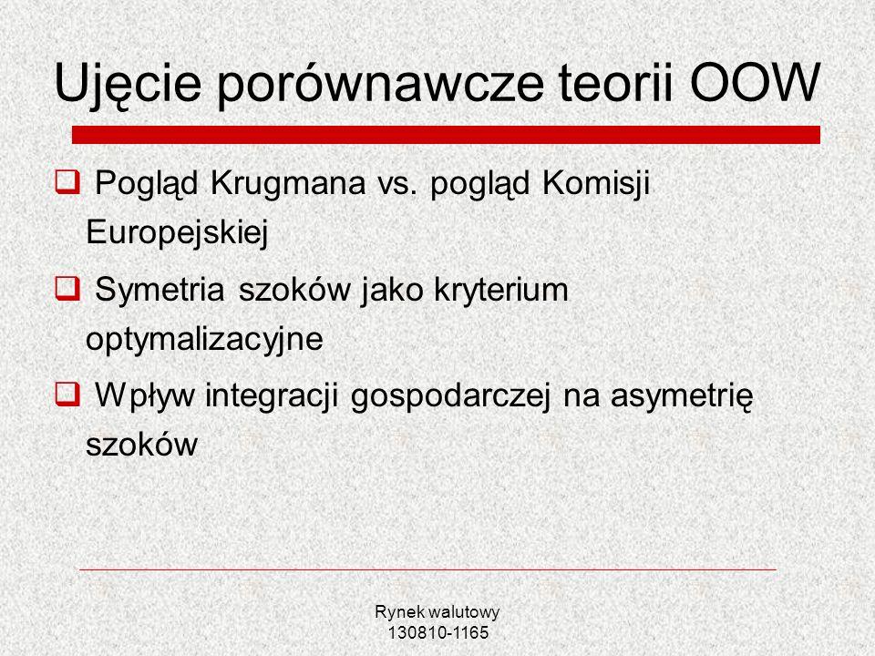 Ujęcie porównawcze teorii OOW