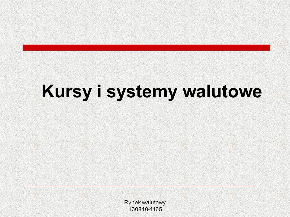 Kursy i systemy walutowe
