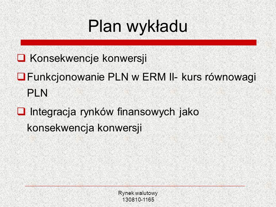 Plan wykładu Konsekwencje konwersji