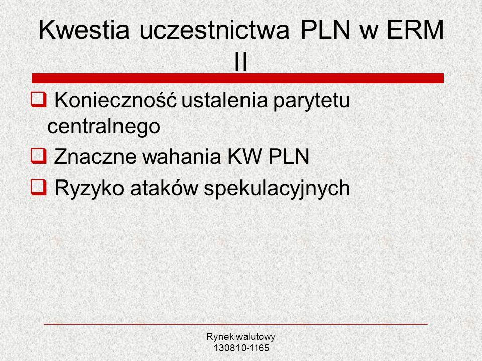 Kwestia uczestnictwa PLN w ERM II