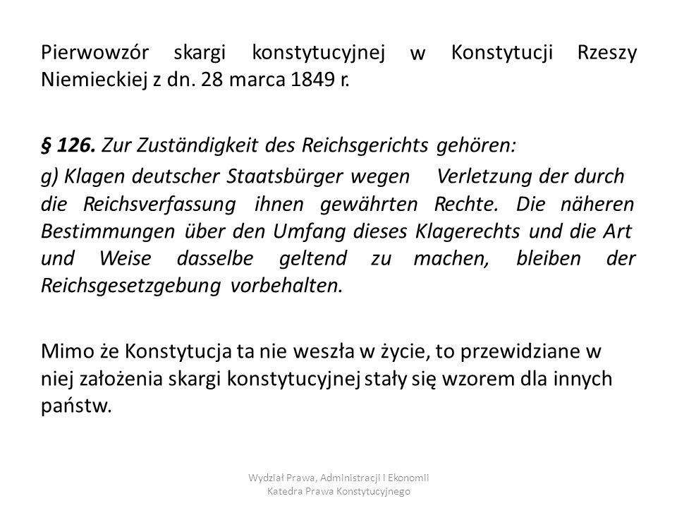 Niemieckiej z dn. 28 marca 1849 r.