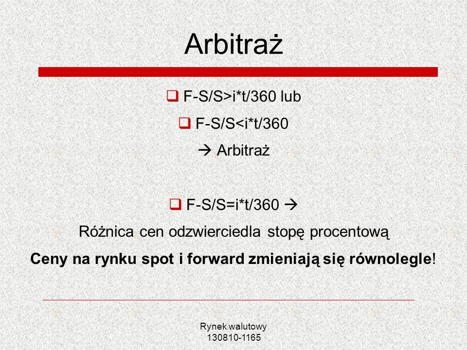 Arbitraż F-S/S>i*t/360 lub F-S/S<i*t/360  Arbitraż