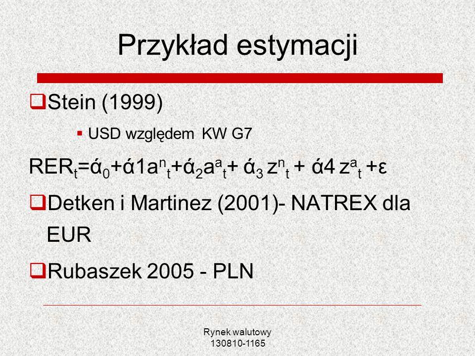 Przykład estymacji Stein (1999)