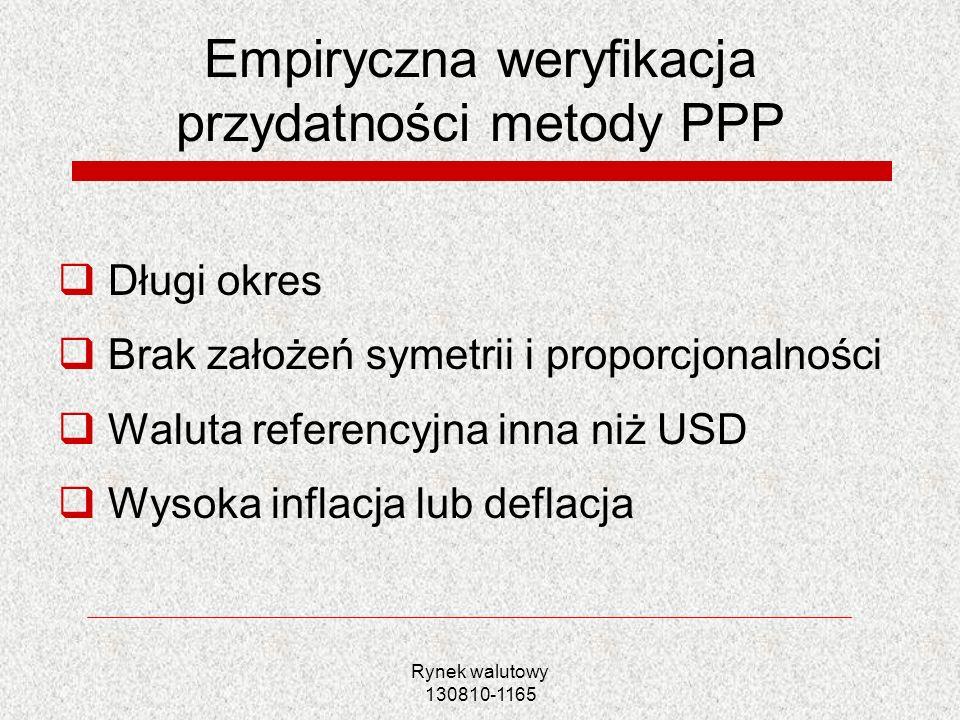 Empiryczna weryfikacja przydatności metody PPP
