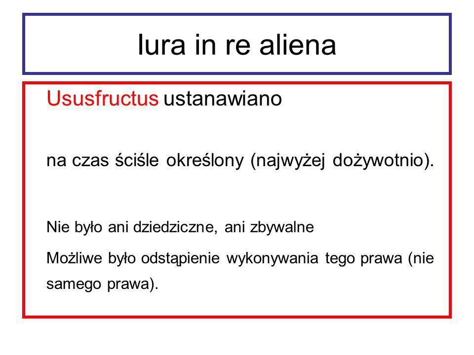 Iura in re aliena Ususfructus ustanawiano