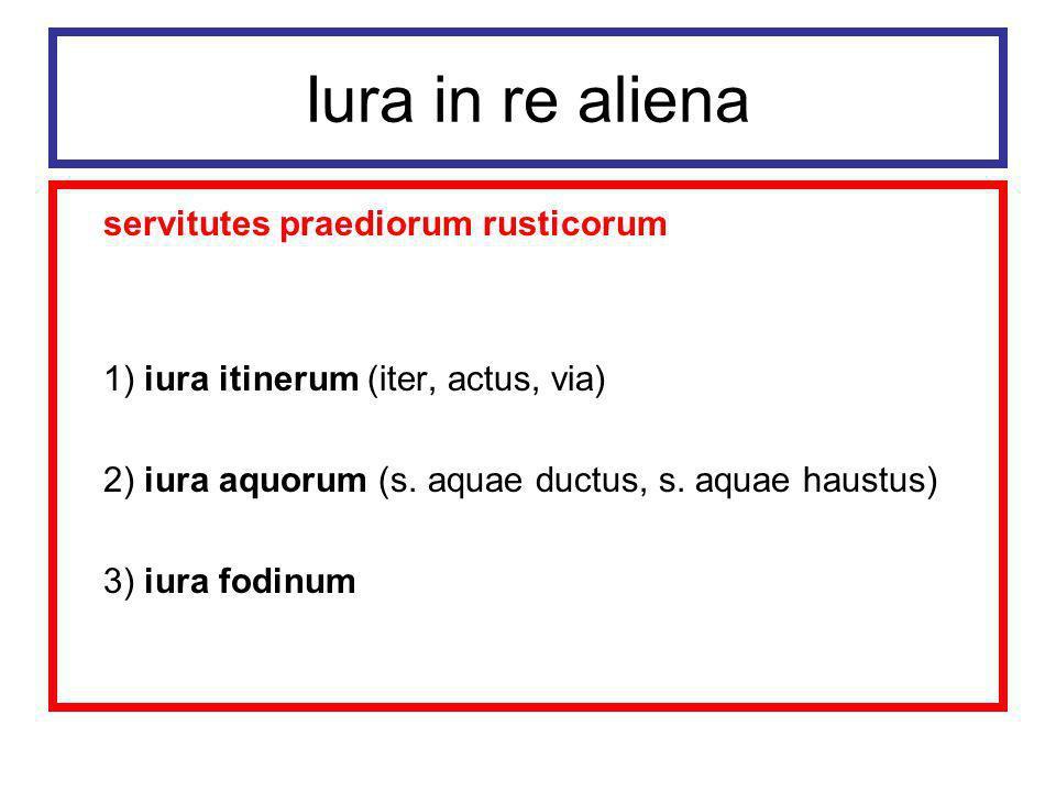 Iura in re aliena servitutes praediorum rusticorum