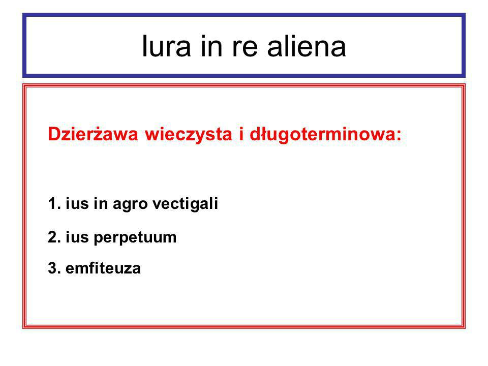 Iura in re aliena Dzierżawa wieczysta i długoterminowa: