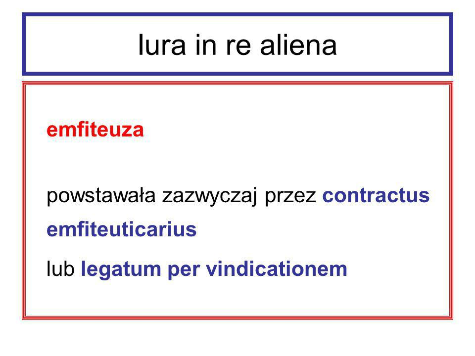 Iura in re aliena emfiteuza