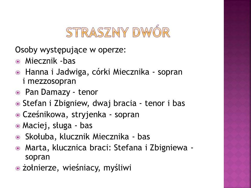 Straszny dwór Osoby występujące w operze: Miecznik -bas
