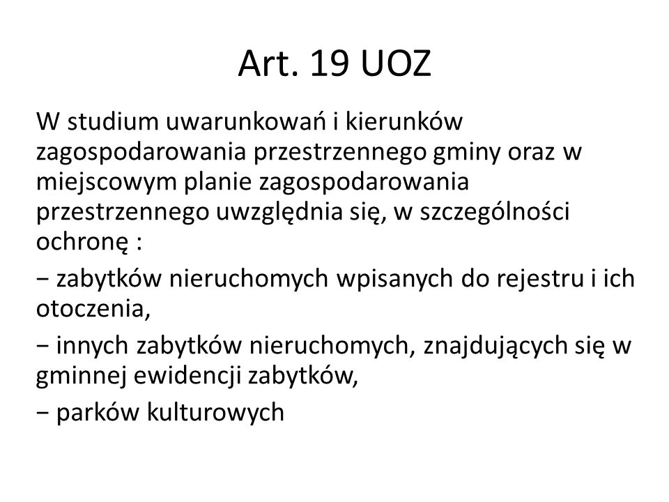 Art. 19 UOZ