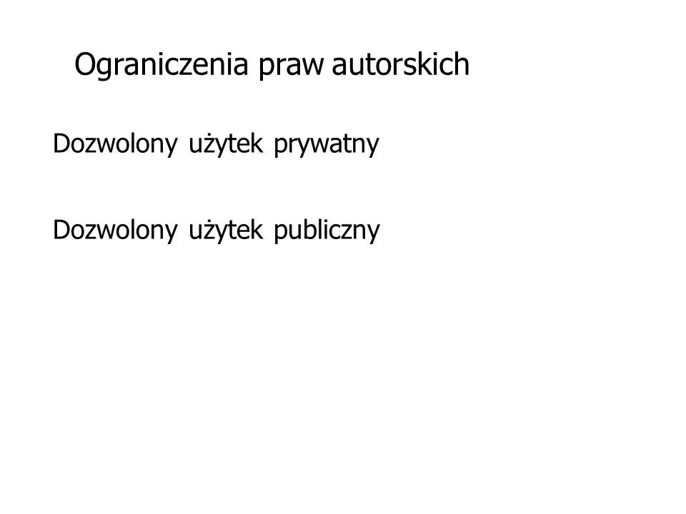 Ograniczenia praw autorskich