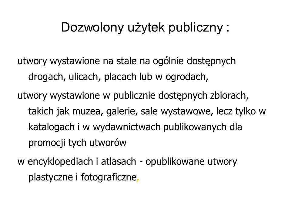 Dozwolony użytek publiczny :