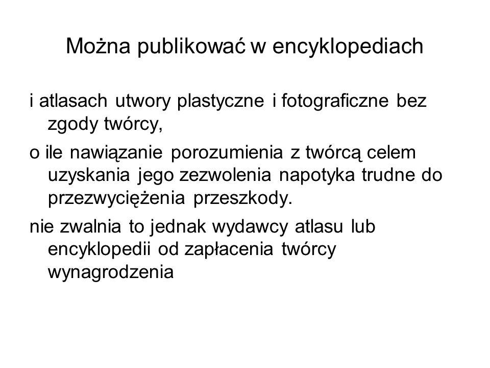 Można publikować w encyklopediach
