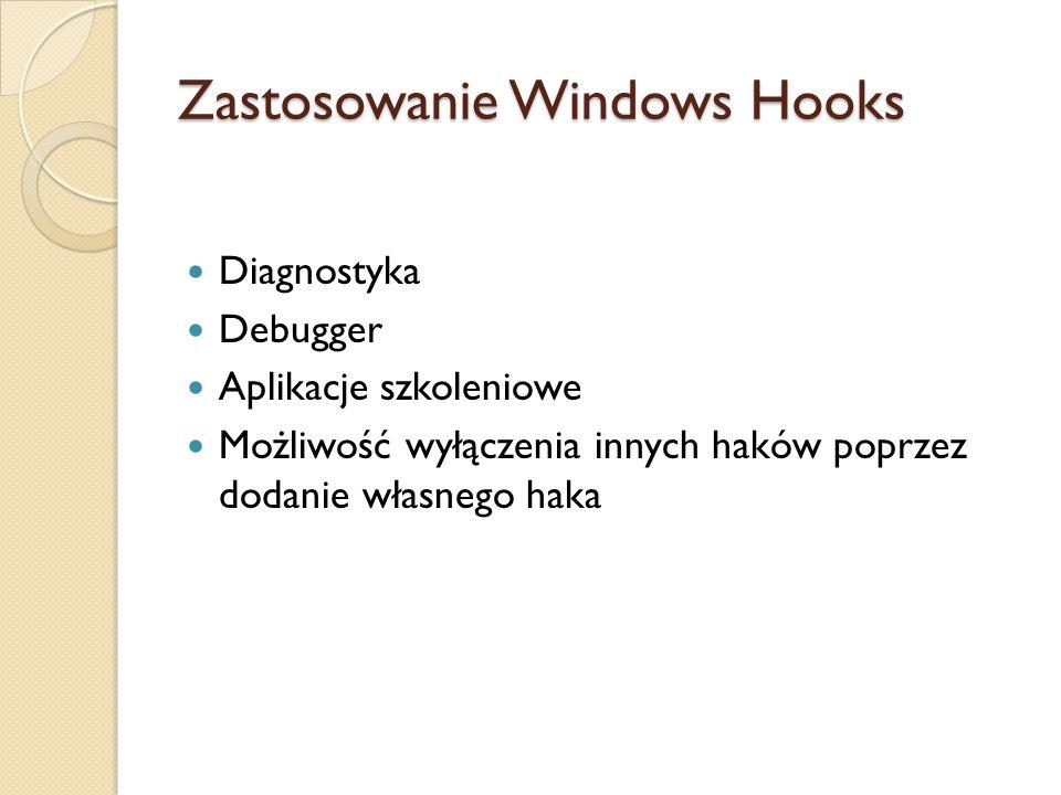 Zastosowanie Windows Hooks