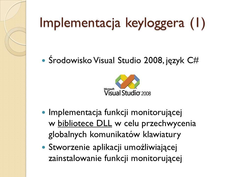Implementacja keyloggera (1)