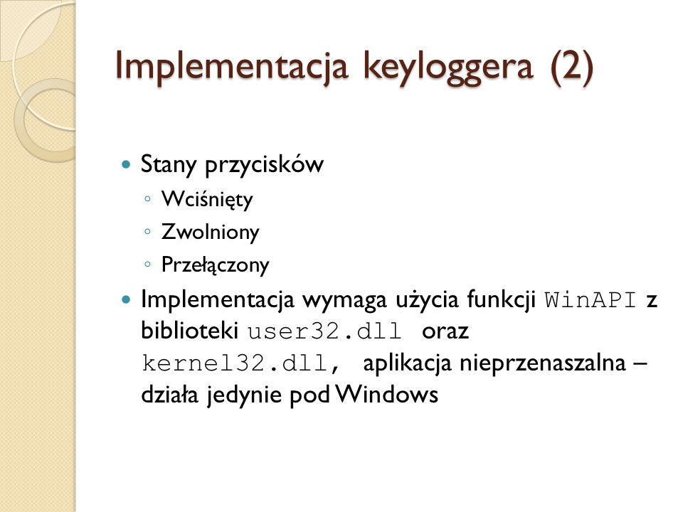Implementacja keyloggera (2)