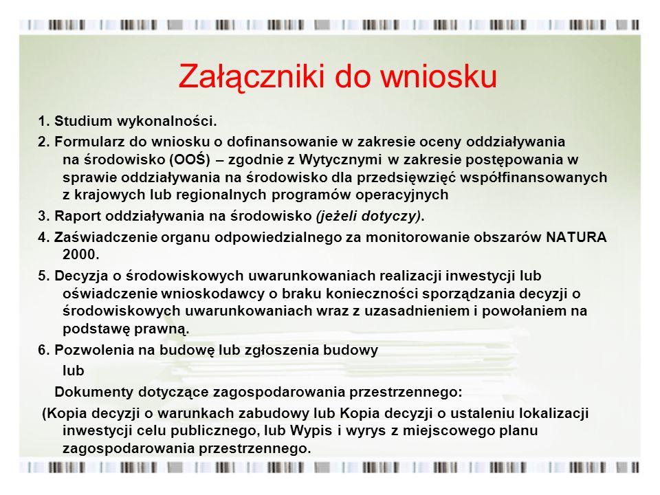 Załączniki do wniosku 1. Studium wykonalności.