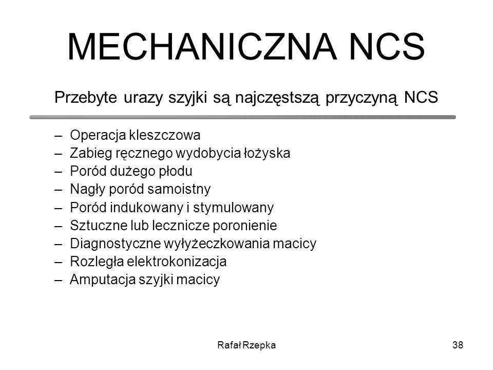 Przebyte urazy szyjki są najczęstszą przyczyną NCS