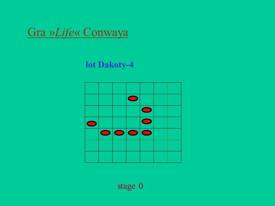 Gra »Life« Conwaya lot Dakoty-4 stage 0