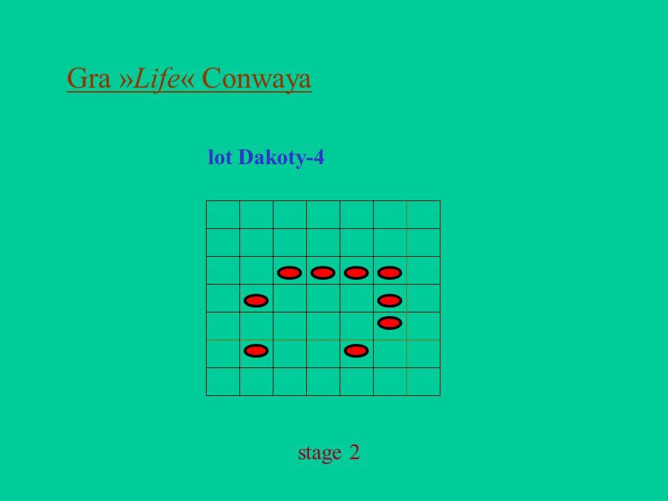 Gra »Life« Conwaya lot Dakoty-4 stage 2
