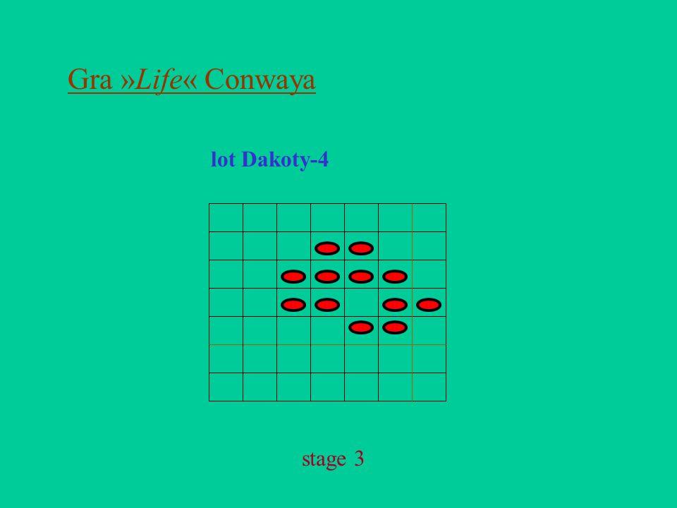 Gra »Life« Conwaya lot Dakoty-4 stage 3