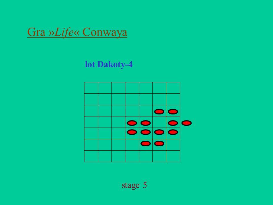 Gra »Life« Conwaya lot Dakoty-4 stage 5