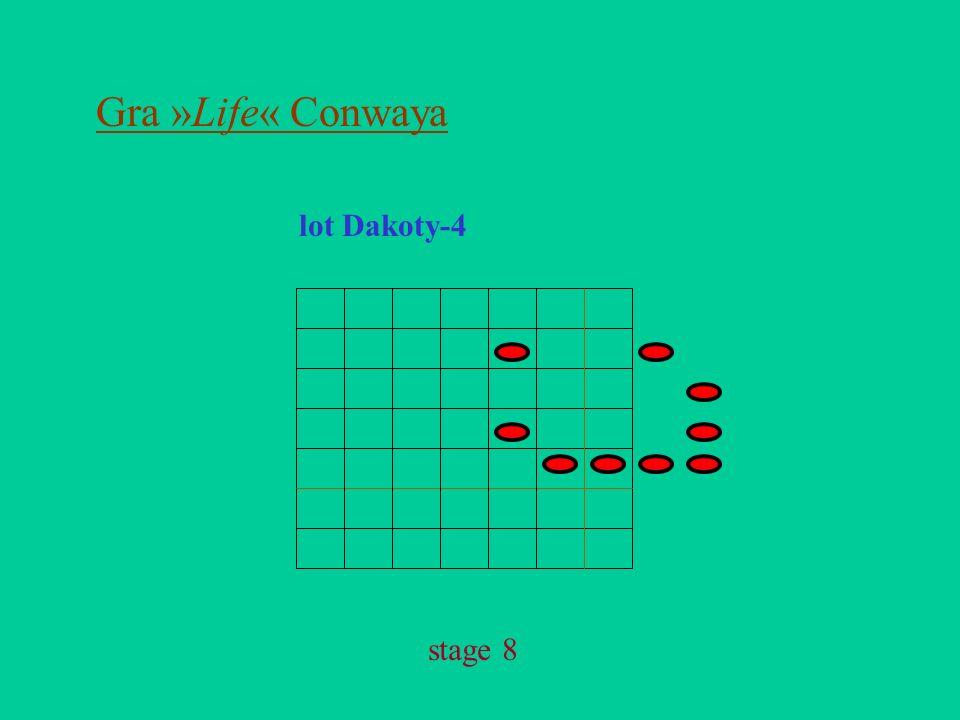 Gra »Life« Conwaya lot Dakoty-4 stage 8
