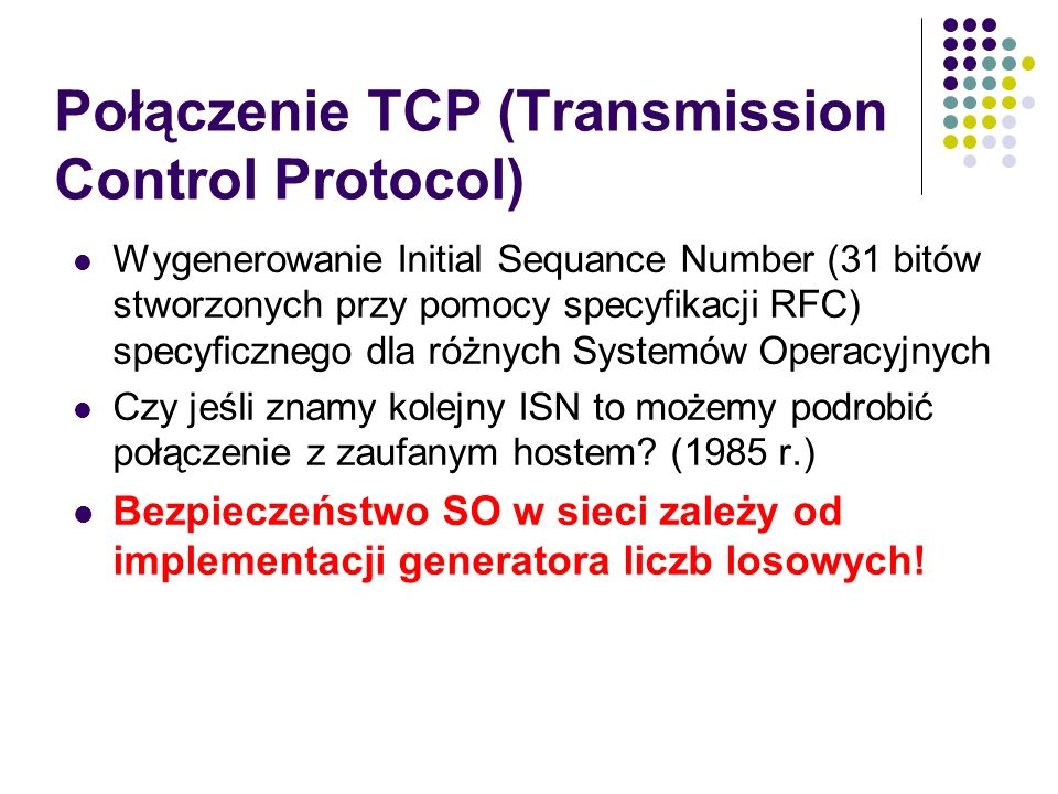 Połączenie TCP (Transmission Control Protocol)