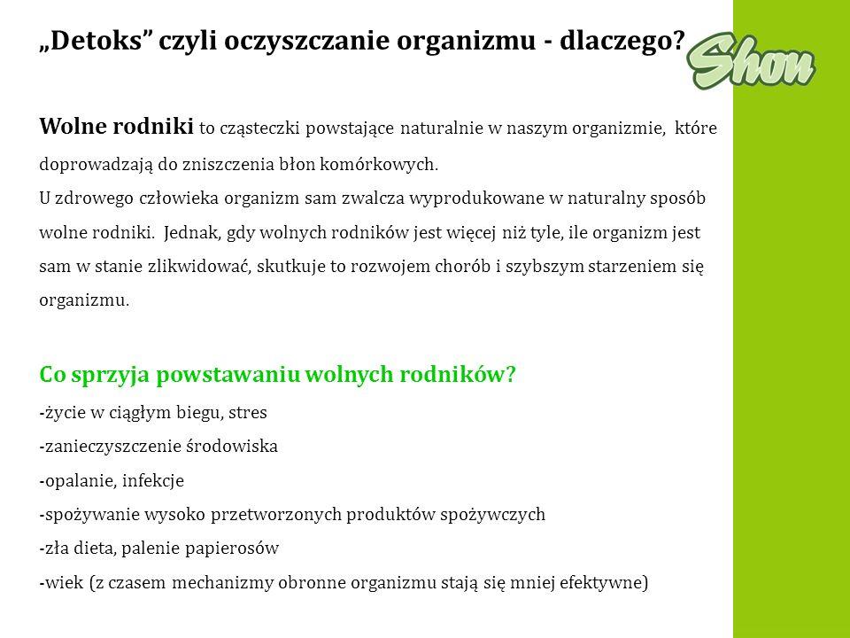 """""""Detoks czyli oczyszczanie organizmu - dlaczego"""