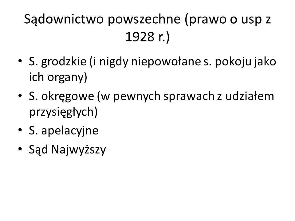 Sądownictwo powszechne (prawo o usp z 1928 r.)