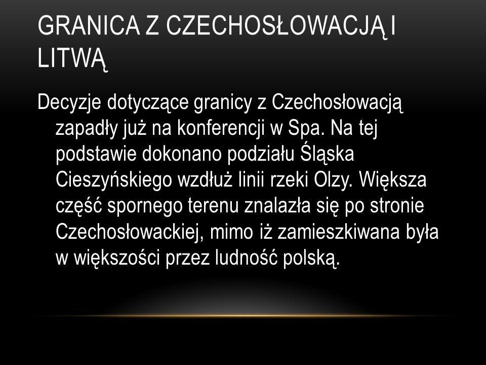 Granica z Czechosłowacją i Litwą